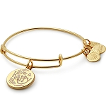 Live a Happy Life Bangle Shiny Gold