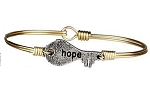 Hope Key Bangle Brass 7.5
