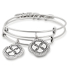Infinite Connection Set Of 2 Mother and Daughter Silver