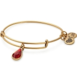 January Birth Month Bangle With Swarovski Crystal Gold