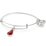 January Birth Month Bangle With Swarovski Crystal Silver