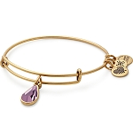 June Birth Month Charm Bangle With Swarovski Crystal Gold