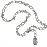 John Medeiros Briolette Pave Single Drop Necklace