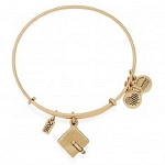 2016 Graduation Cap Charm Bangle Rafaelian Gold