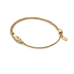 Feather Pull Chain Bracelet Gold