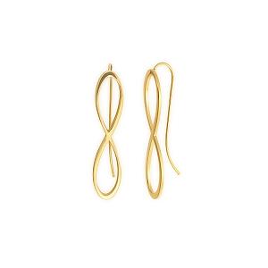 Infinity Earrings 14kt Gold Plated