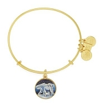 Polar Bears Charm Bangle Shiny Gold Finish