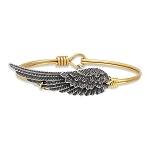 Angel Wing Bangle Brass 7.5