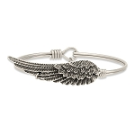 Angel Wing Bangle Silver 7.5
