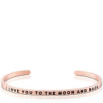 I Love You To The Moon And Back Rose Gold