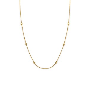 "38"" Expandable Chain Necklace 14kt Gold Plated"