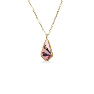 Sloane Necklace in Antique Pink 18Kt Gold Plated