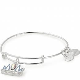 Queen Mom Charm Bangle Shiny Silver Finish