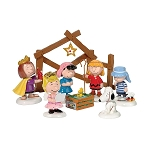 Department 56 Peanuts Pageant Nativity Set of 8 802162