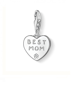 Best Mom Heart Charm 0821-001-12