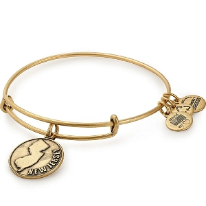 New Jersey Charm Bangle Gold