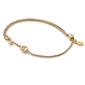 Skeleton Key Pull Chain Bracelet Gold