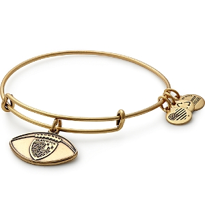 Baltimore Ravens Football Charm Bangle Rafaelian Gold