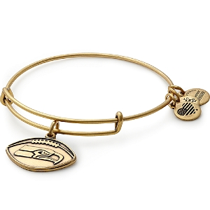 Seattle Seahawks Football Charm Bangle Rafaelian Gold