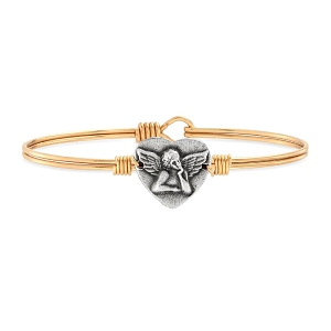 Cherub Angel Bangle Bracelet Brass 7.0
