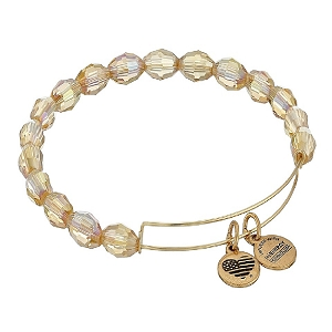 Serenity Mellow Amber Beaded Bangle Rafaelian Gold