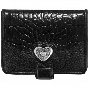 Bellissimo Heart Small Wallet Black T10393