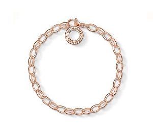 18ct Rose Gold Plated Charm Bracelet X0031-415-12-M 18.5cm