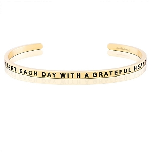 Start Each Day With A Grateful Heart Gold