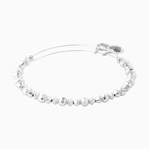 Canyon Beaded Bangle Shiny Silver