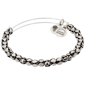 Traveler Beaded Bangle Rafaelian Silver