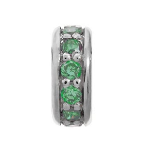 Dreamy Dot Emerald Sterling Silver 1200-3