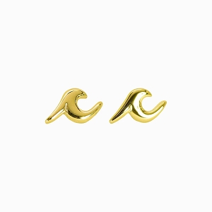 Wave Stud Earring Gold