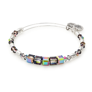 Mirror Swarovski Beaded Bangle Shiny Silver