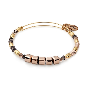 Crown Swarovski® Beaded Bangle Shiny Gold