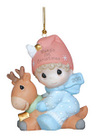Precious Moments Baby's First Christmas Boy Ornament 121006