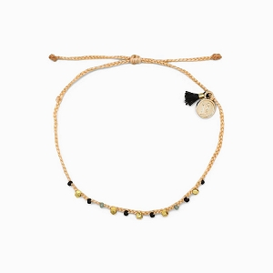 Bead and Braid Bracelet Gold Beige
