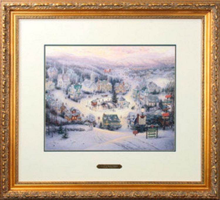 Thomas Kinkade St Nicholas Circle Framed 23 5 X 25 5