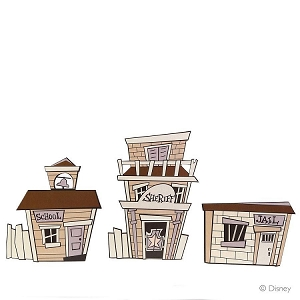 Woody's Round Up Town Facade Set of 3 1236743