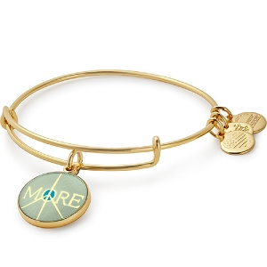 More Peace Bangle Shiny Gold