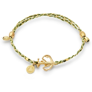Anchor Precious Threads Bracelet Gold