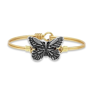 Butterfly Brass Bangle Bracelet 7.0