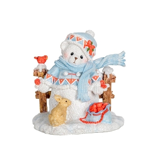 2018 Charlotte Snowbear by Fence 132074