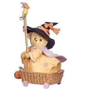 Halloween Witch Diana In Basket Cart 132854