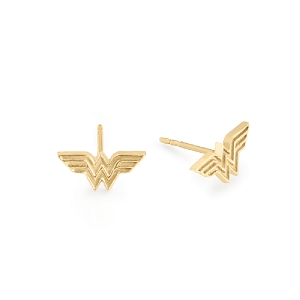 Wonder Woman Earrings 14kt Gold