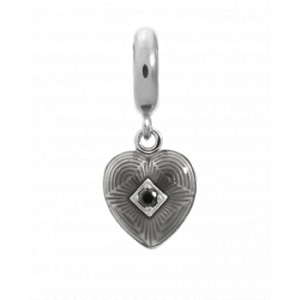 Jennifer Lopez Black Big Heart Charm 1350-1