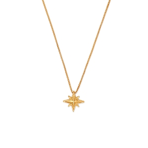 Wonder Woman Star Adjustable Necklace 14kt Gold