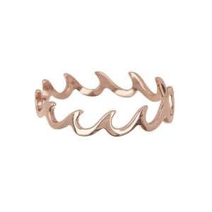 Wave Band Ring Size 5 Rose Gold