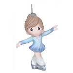 Precious Moments Winter Princess Skater Ornament 141033