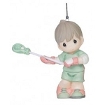 Checking It Twice Lacrosse Boy Ornament 151043