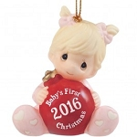 Baby's First Christmas 2016 Girl Ornament 161005
